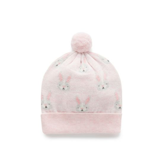 Purebaby - Knit Beanie - Little Bunny