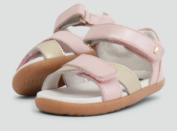 Bobux - Step Up - Sail Sandal - Blush Shimmer + Misty Gold