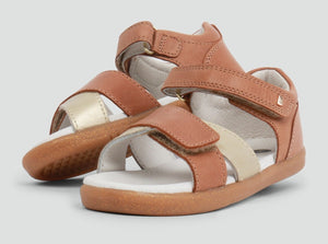 Bobux - I Walk - Sail Sandal - Caramel and Misty Gold