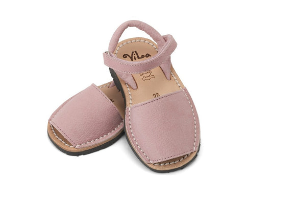 ViLa - Nubuck Leather Sandal - Pink Candy