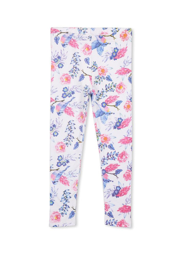 Milky - Blue Bird Floral Leggings