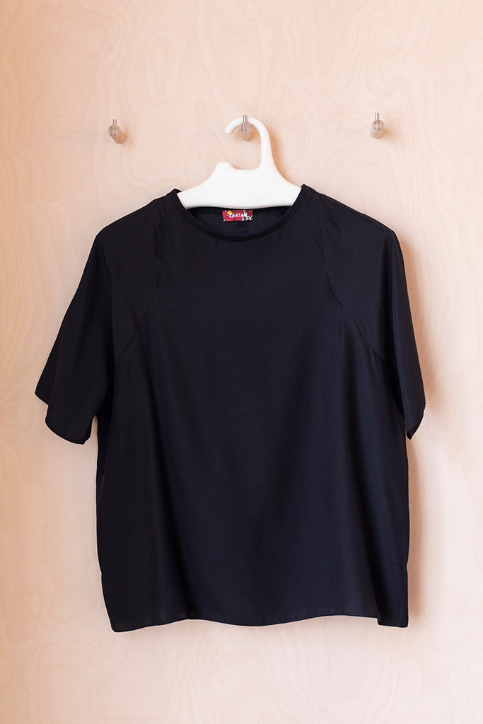 Silk T-Shirt - Black