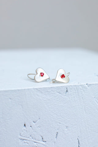 Sweetheart Earrings - Sterling Silver