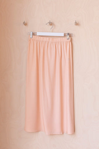 Silk Skirt - Nude