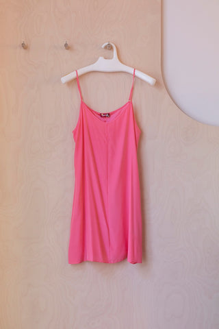 Silk Slip Dress - Pink