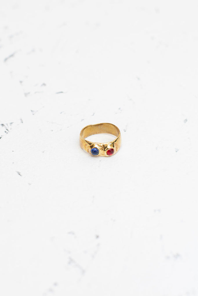 Felt Ring - Red/Blue