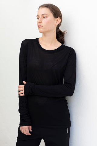Bamboo Long Sleeve T-Shirt - Black