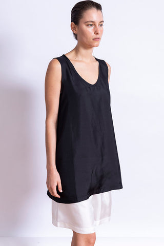 Bodice Silk Top - Black