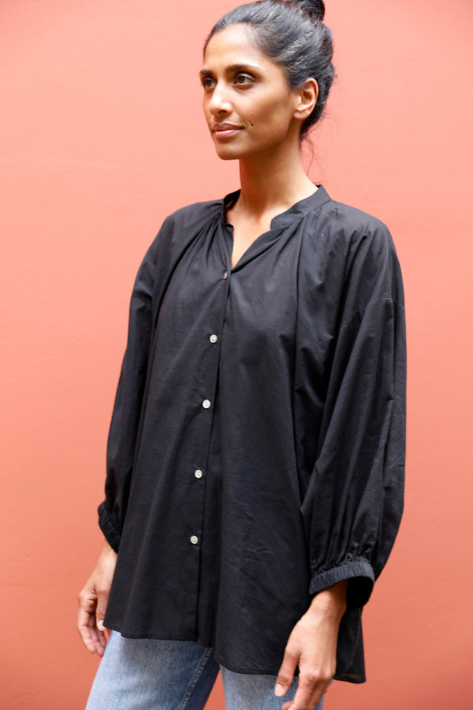 Everyday Cotton Blouse - Black