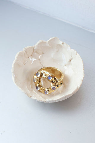 Halo Ring - Moonstone