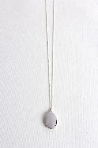 Medaillon Long Necklace - Silver