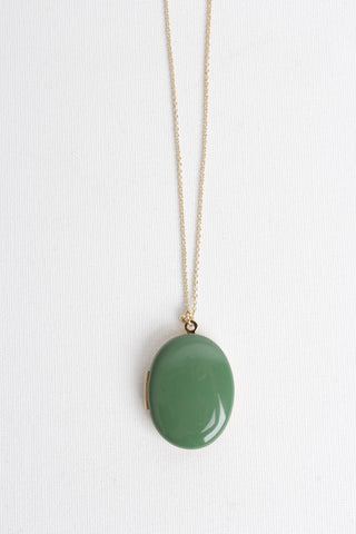 Locket Long Necklace - Foliage