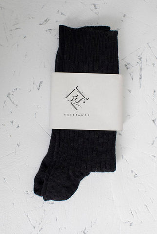Rib Ankle Socks - Black