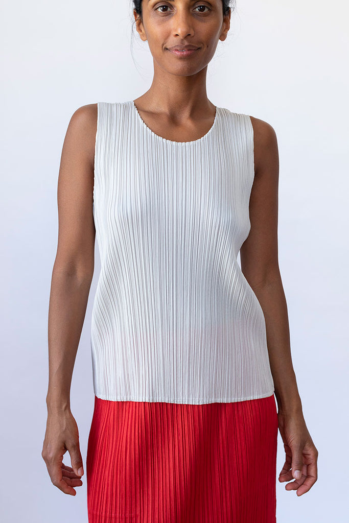 New Colorful Basics Tank - Light Beige
