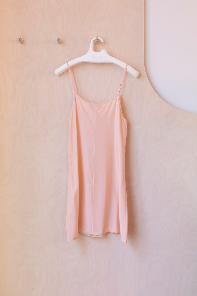 Silk Slip Dress - Blush