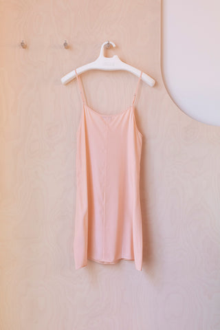 Silk Slip Dress - Nude