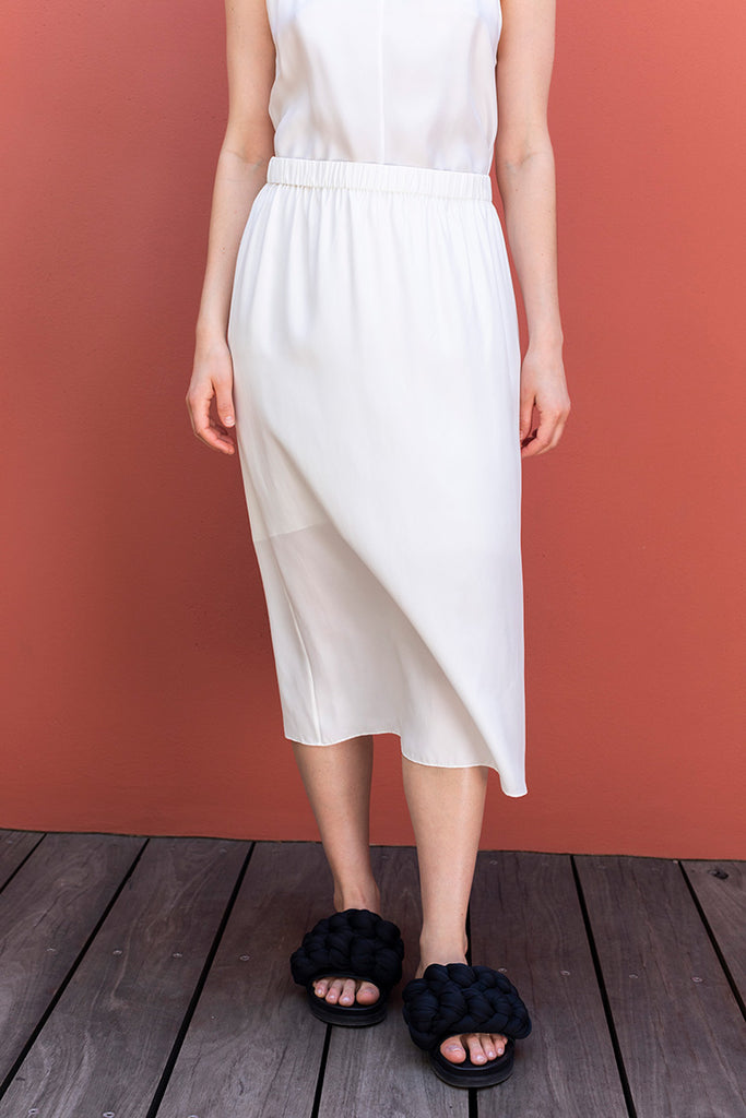 Silk Skirt - White