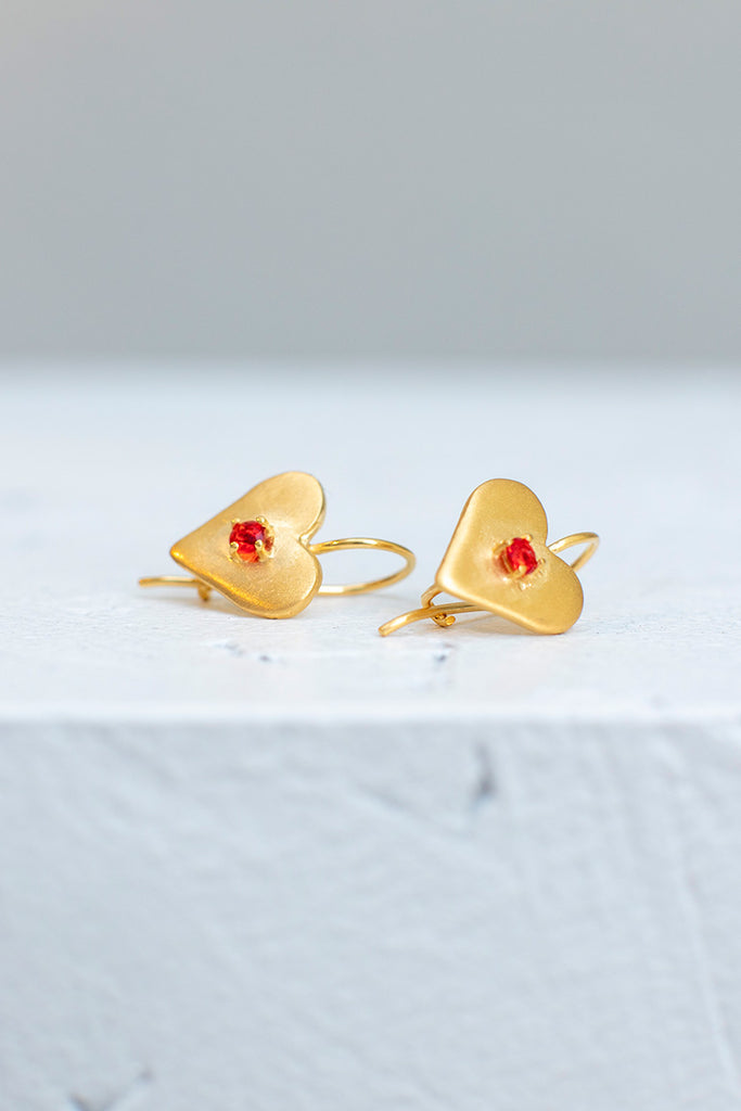 Sweetheart Earrings - Gold