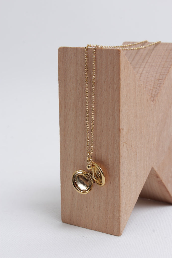 Tiny Locket Necklace - Fir