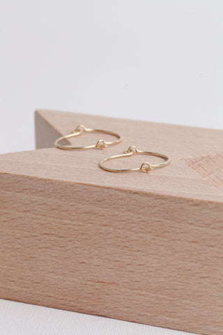 Curve Hoop Earrings - Vermeil