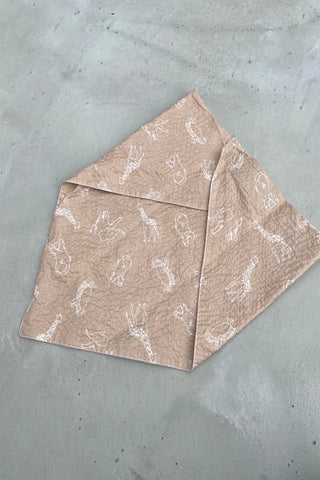 Zoo Summer Bandana - Tan