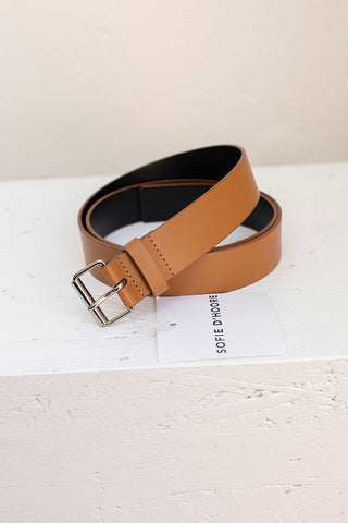 Virginia 30 Belt - Sand/Black
