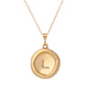 Your Initial - A to Z - Pendant Necklace - Gold Plated Sterling Silver