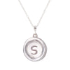 Your Initial - A to Z - Pendant Necklace - Solid Sterling Silver