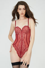 Janine Bodysuit Red
