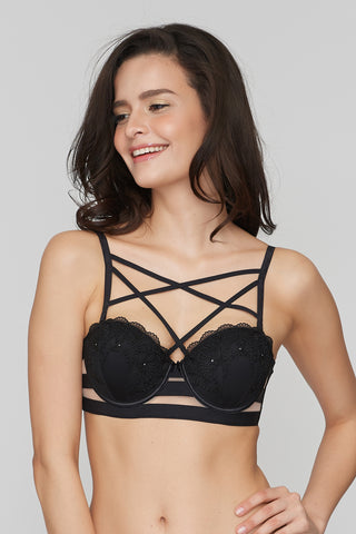 Black Magic Strapless bra