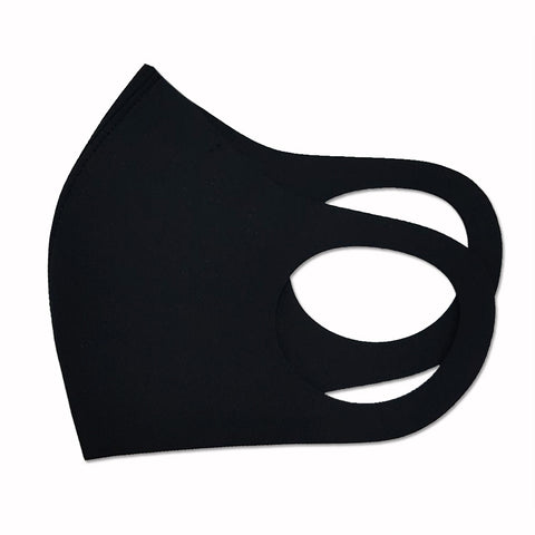 Kyra Face Mask Black polyurethane fabric