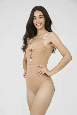 Downtown Gangster Bodysuit NUDE