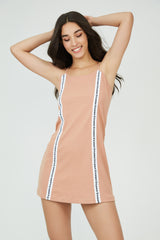 Downtown Gangster Slip Dress NUDE