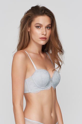 Ellen PUSH-UP Mold Bra Light Gray
