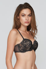 Ellen PUSH-UP Mold Bra Black