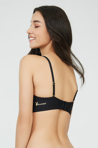 New Bunny Strapless Bra BLACK