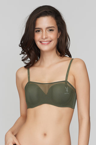 Luces'Y Sombras Strapless Bra Green