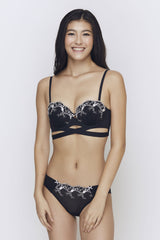 Playboy Intimates Black Marble Bikini
