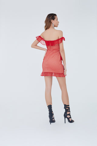 Mireya Dress Red