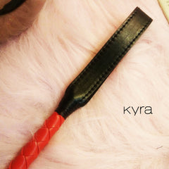 Kyra Sexy Toy RED Leather Whip