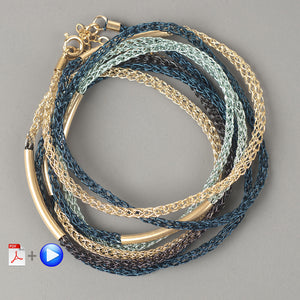 How to crochet with wire this amazing layering bracelet