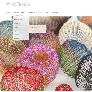 Website facelift - It's all about wire crochet ;)