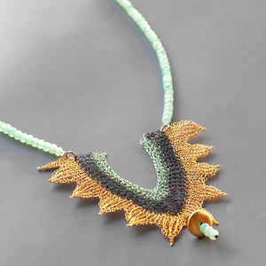 Oriental wire crochet jewelry- Yooladesign