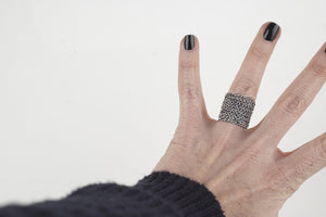 Nautical vibe rings - Wire crochet rings