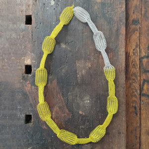 TWIST contemporary yellow necklace