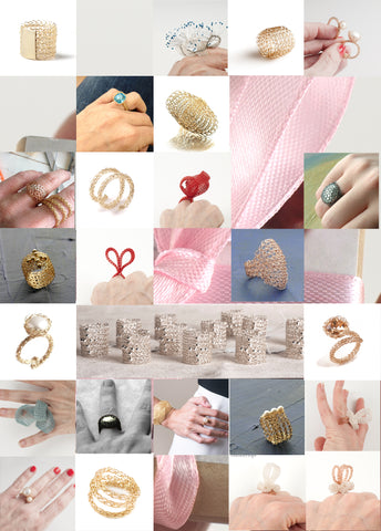 1001 wire crochet rings