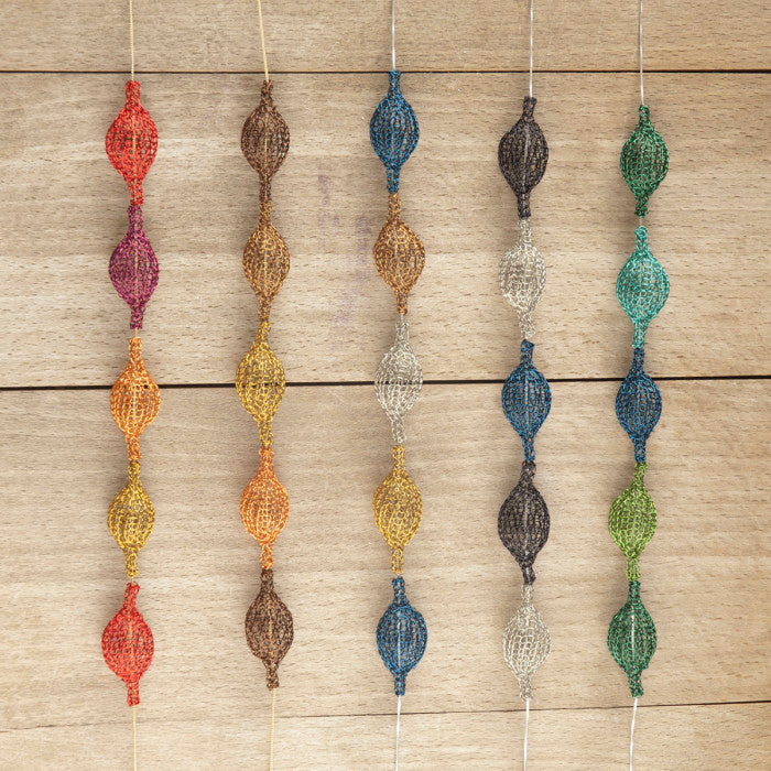 Wire crochet pod necklaces by yoola
