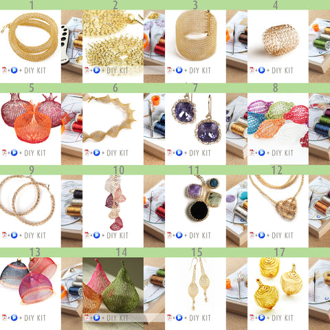 Jewelry making kits - Wire crochet kits
