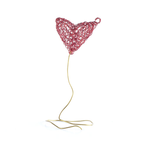 Heart Wire Crochet Jewelry Gift