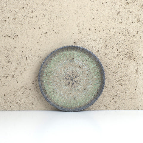 Round wall art green